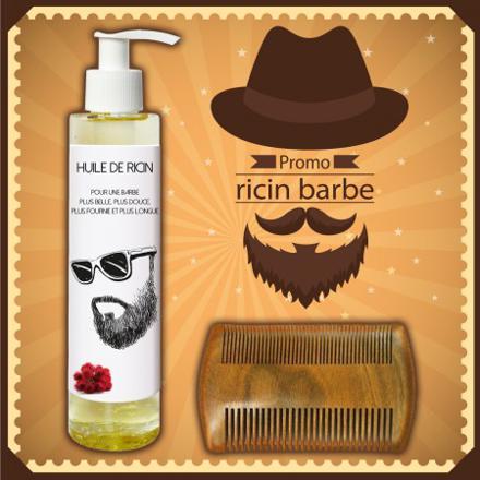 huile de ricin barbe