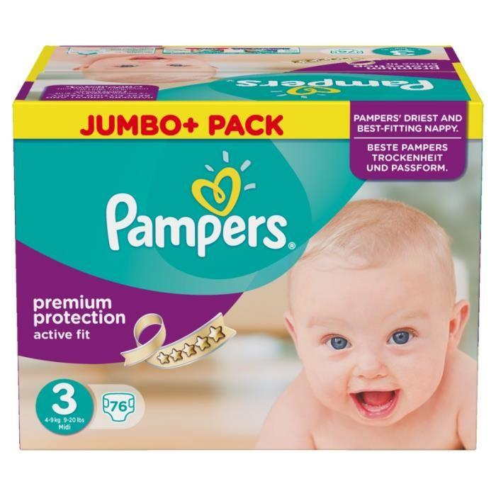 jumbo pack pampers taille 3