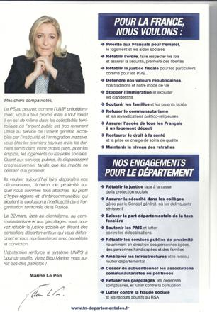 le front national programme