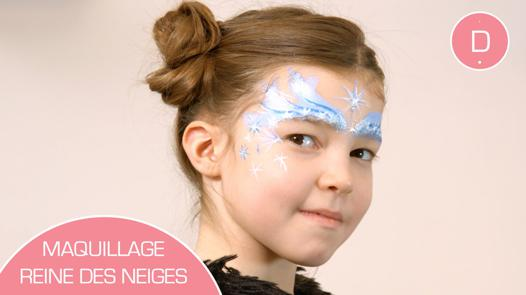 maquillage la reine des neiges facile
