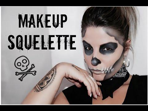 maquillage squelette facile