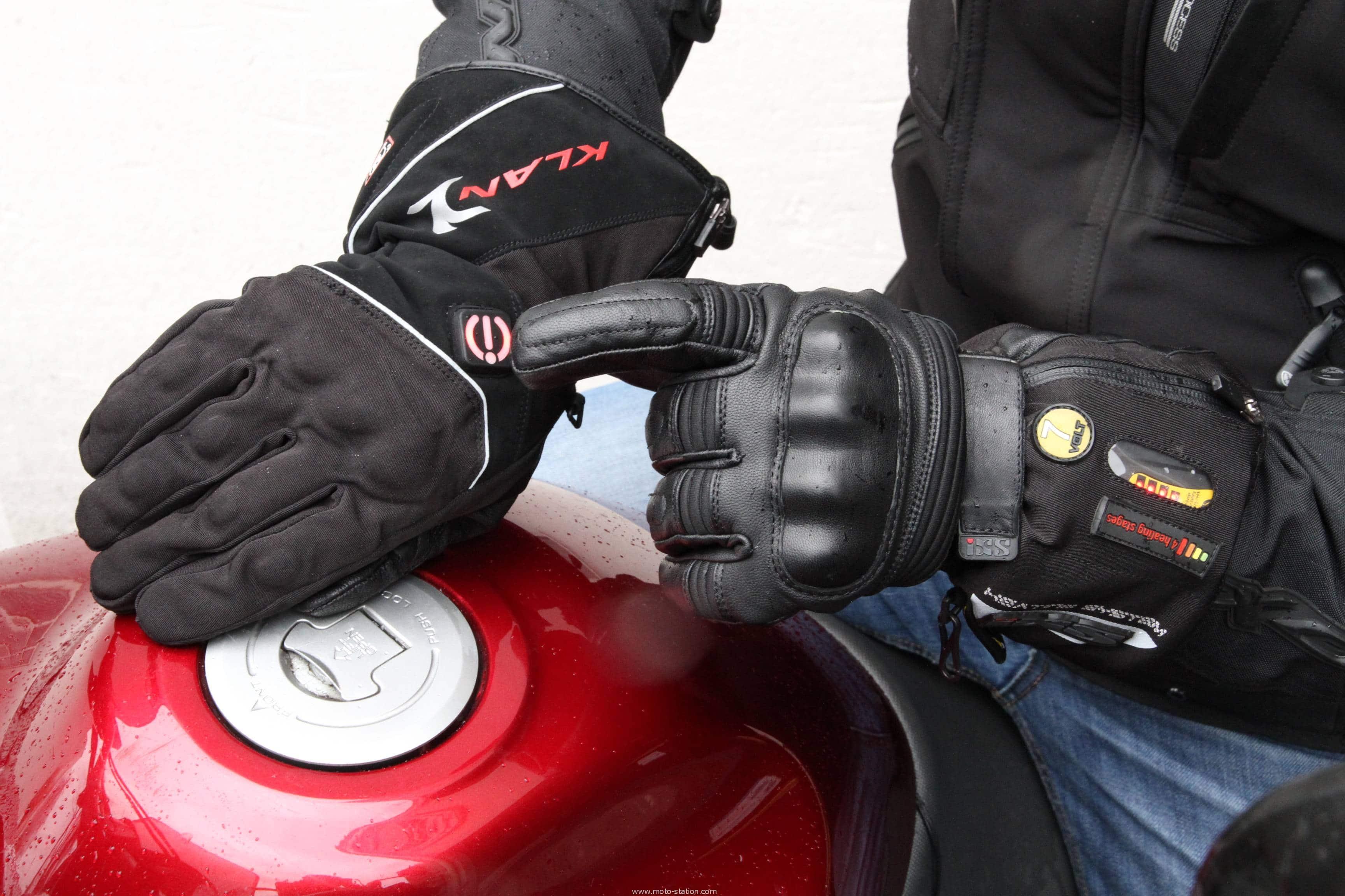 meilleurs gants moto chauffants