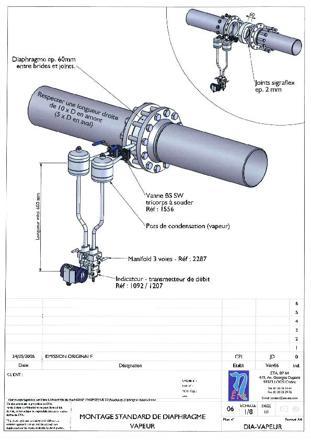 mesure débit vapeur