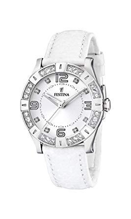 montre blanche femme festina