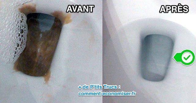nettoyer tartre wc