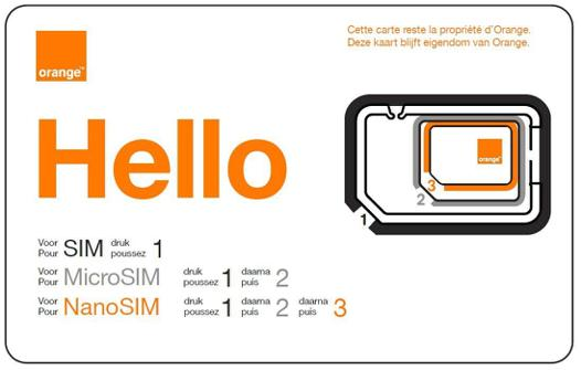 orange carte micro sim