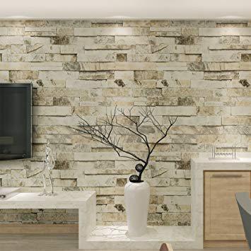 papier peint motif pierre