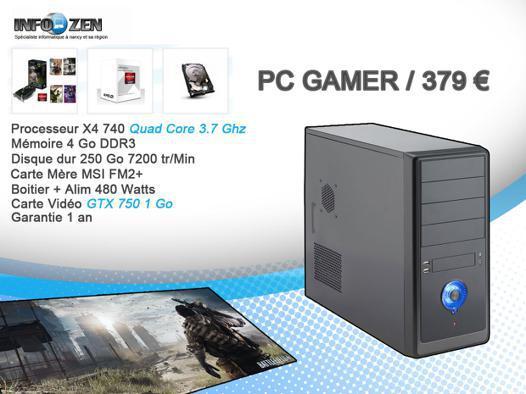 pc gamer premier prix