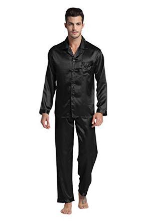 pyjama homme satin noir