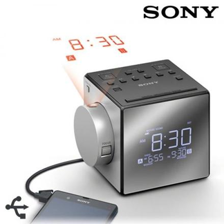 radio réveil avec projection de l heure