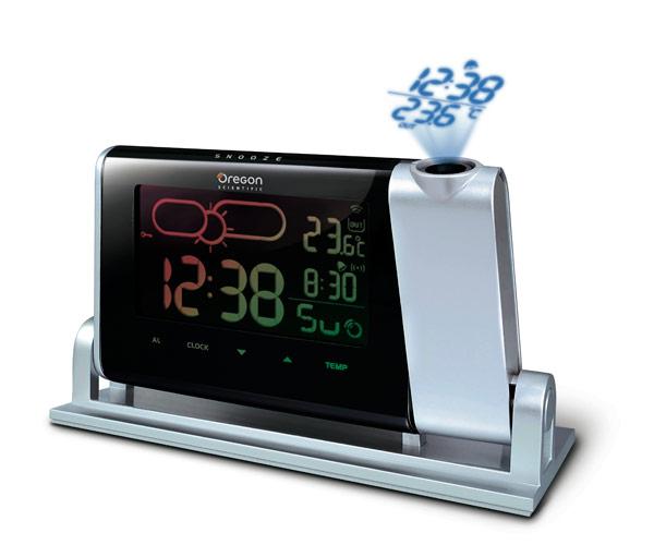 radio réveil avec projection de l'heure