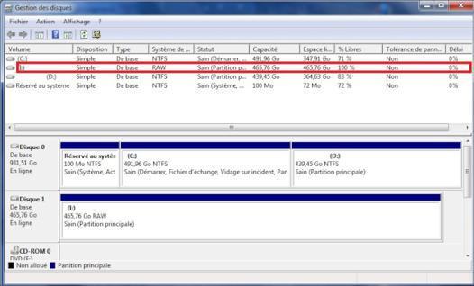 raw disque dur
