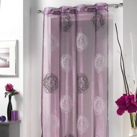 rideau voilage violet