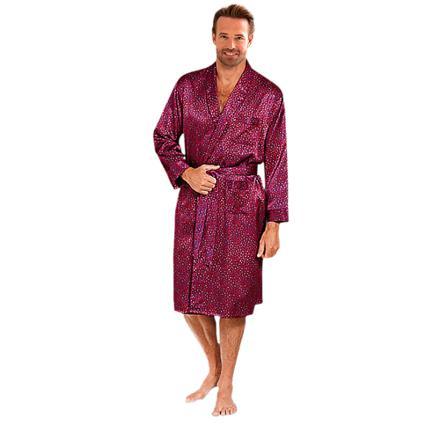 robe de chambre satin homme