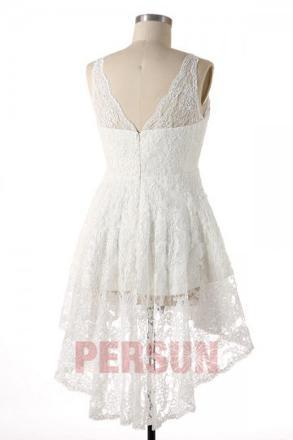 robe dentelle blanche grande taille