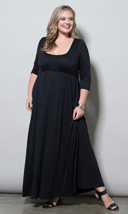 robe longue grande taille pas cher