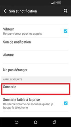 sonnerie htc