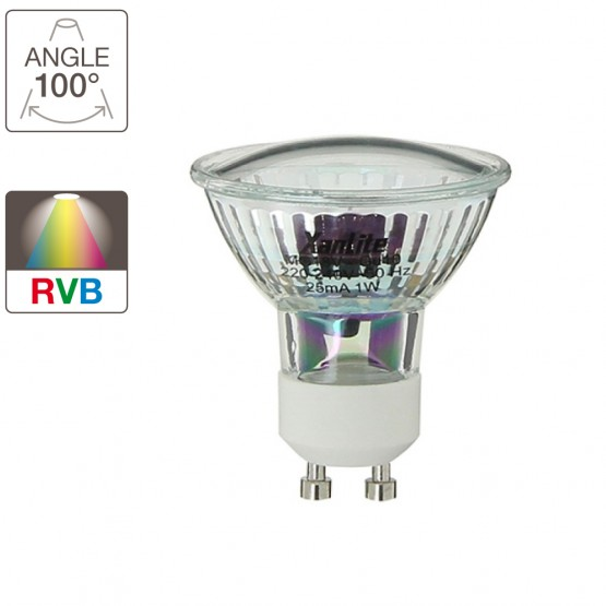 spot gu10 led couleur