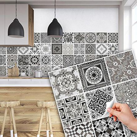 stickers carrelage cuisine 15x15