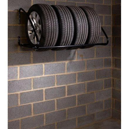 support pneus mural