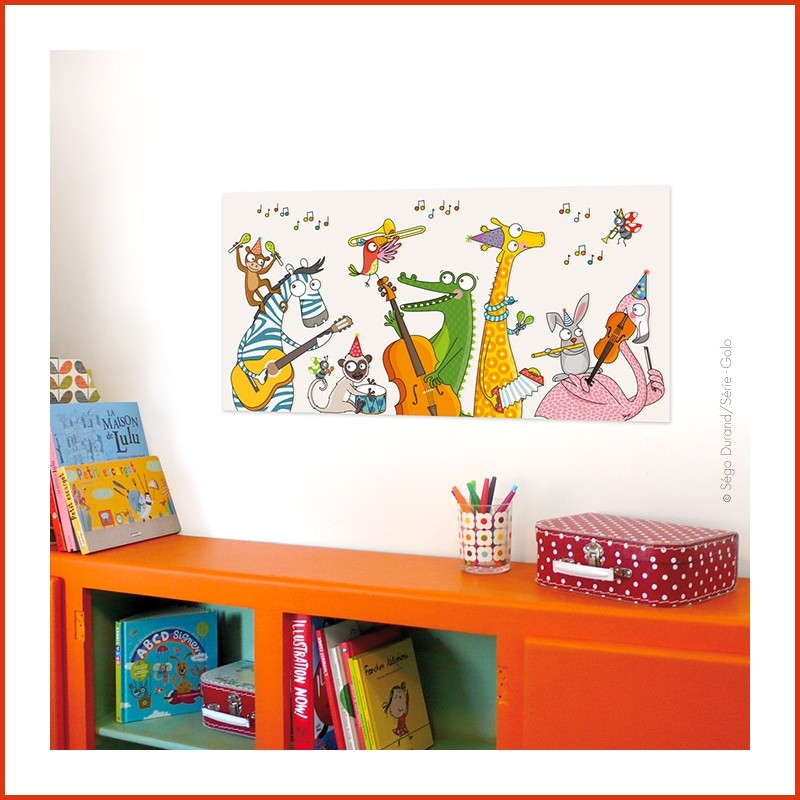 tableau chambre bebe animaux