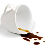tache café sur coton