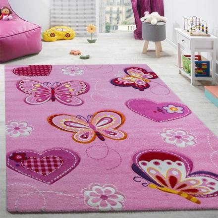 tapis chambre fille rose