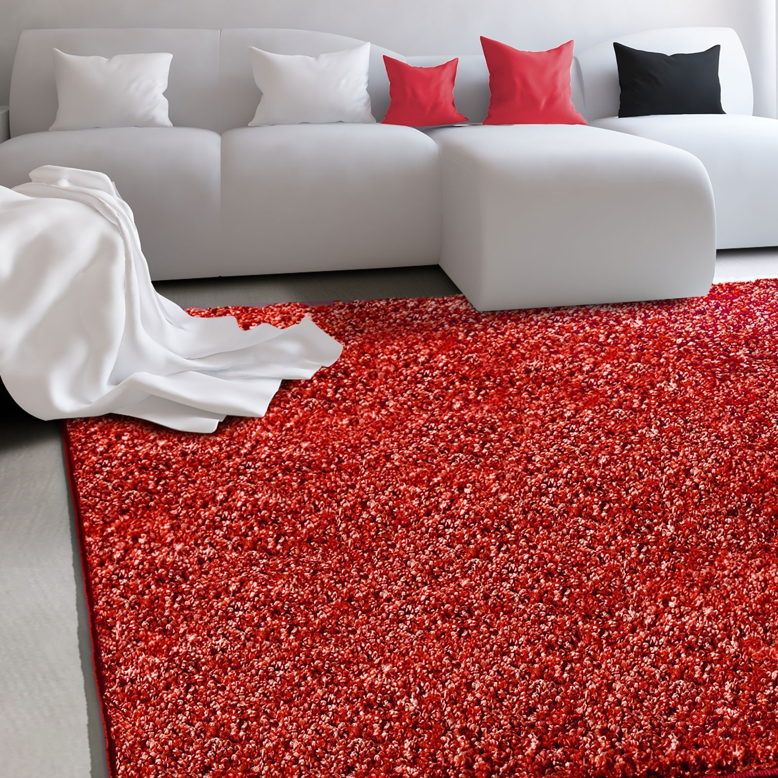 tapis salon rouge