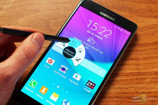 test samsung note 4